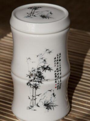recipient pentru ceai bambus